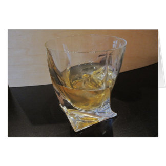 Scotch on the Rocks Note Card