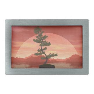 Scotch pine bonsai tree - 3D render Belt Buckles
