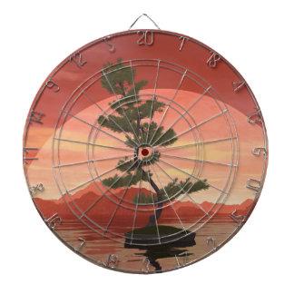 Scotch pine bonsai tree - 3D render Dartboard