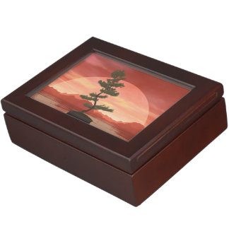 Scotch pine bonsai tree - 3D render Keepsake Box