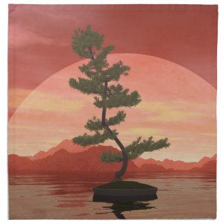 Scotch pine bonsai tree - 3D render Napkin