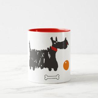 Scotch terrier Two-Tone coffee mug