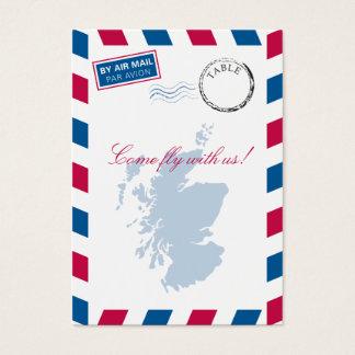 Scotland Airmail Escort/Seating Card Wedding