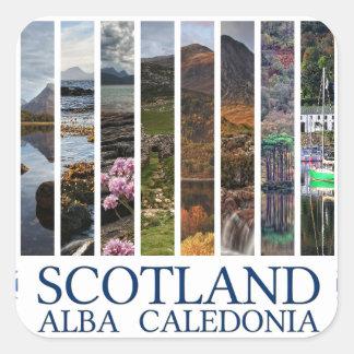 Scotland - Alba - Caledonia Square Sticker
