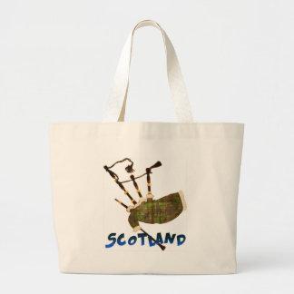 Scotland Bagpipes Jumbo Tote Bag