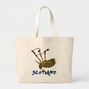 Scotland Bagpipes Large Tote Bag ee9865ae8c7a3