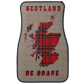 Scotland Be Brave Stuart Tartan Pattern Car Set Car Mat