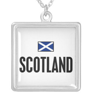 Scotland Bold Silver Plated Necklace