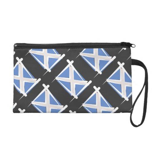 Scotland Brush Flag Wristlet Clutch