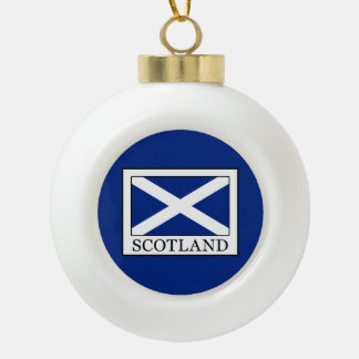 Scotland Ceramic Ball Christmas Ornament