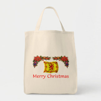 Scotland Christmas Grocery Tote Bag