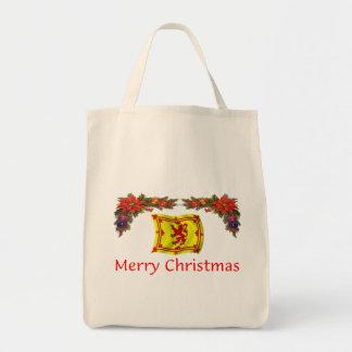 Scotland Christmas Grocery Tote Bag