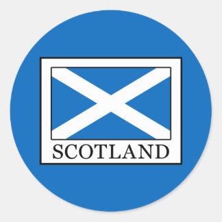 Scotland Classic Round Sticker