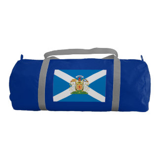 Scotland Coat of Arms and Flag Gym Duffel Bag