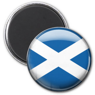 Scotland Flag 6 Cm Round Magnet