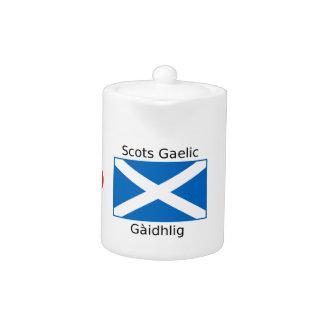 Scotland Flag And Scots Gaelic Language Design