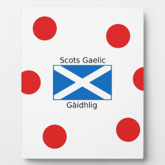 Scotland Flag And Scots Gaelic Language Design Plaque