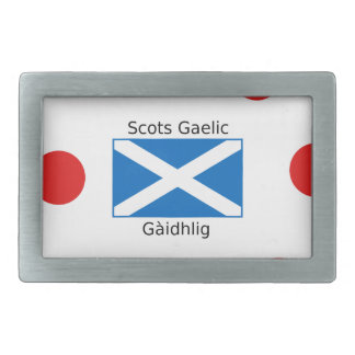 Scotland Flag And Scots Gaelic Language Design Rectangular Belt Buckle