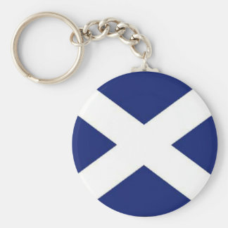 SCOTLAND FLAG BASIC ROUND BUTTON KEY RING