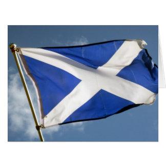 scotland flag big card