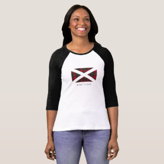 Scotland Flag (black text) - Front T-Shirt
