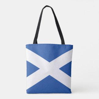 Scotland Flag Blue White Tote Bag