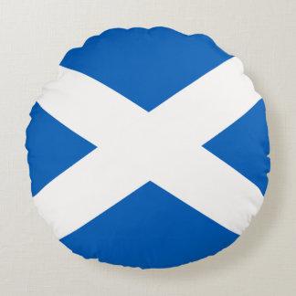 Scotland Flag Round Pillow