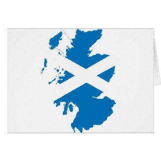 Scotland flag map card