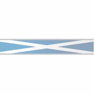 Scotland, Flag ribbons Acrylic Cut Out