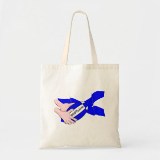 Scotland Flag Rugby Ball Supporters Cartoon Hands Budget Tote Bag