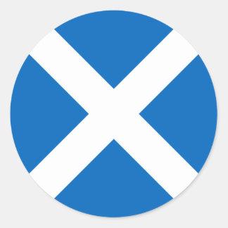 Scotland Flag - Scottish Flag Souvenir Classic Round Sticker