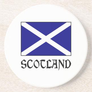 Scotland Flag & Word Drink Coaster