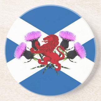 Scotland, flower thistle, Rampant lion Coaster