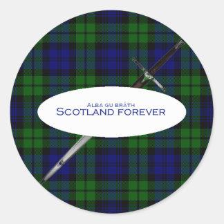 Scotland Forever Alba gu bràth Classic Round Sticker