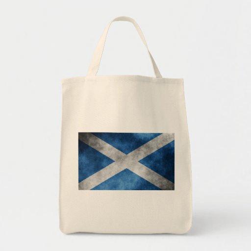 Scotland Grunge- Saint Andrew's Cross Canvas Bag