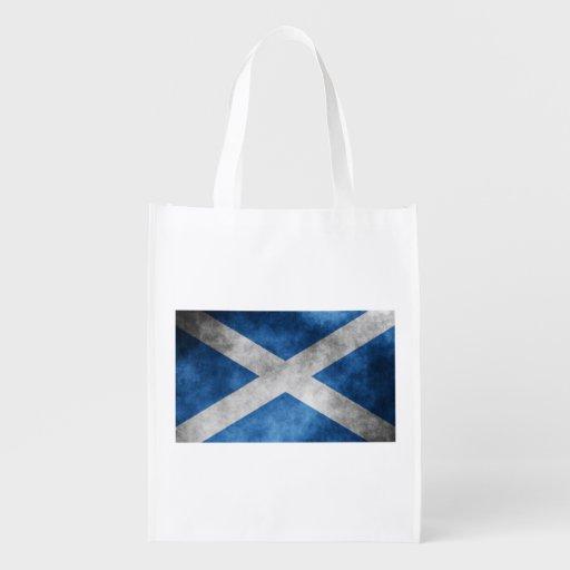 Scotland Grunge- Saint Andrew's Cross Grocery Bag