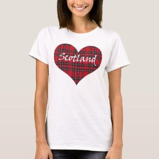 Scotland Heart Tartan T-Shirt