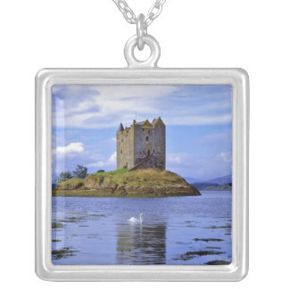 Scotland, Highland, Wester Ross, Loch Linnhe. A Square Pendant Necklace