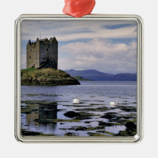 Scotland, Highland, Wester Ross, Stalker Silver-Colored Square Decoration