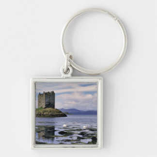 Scotland, Highland, Wester Ross, Stalker Silver-Colored Square Key Ring
