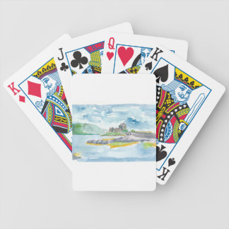 Scotland Highlands Fantasy and Eilean Donan Castle Bicycle Playing Cards