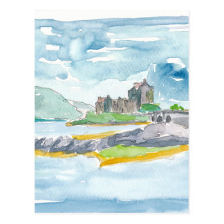 Scotland Highlands Fantasy and Eilean Donan Castle Postcard
