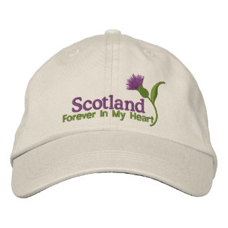 Scotland in my Heart Embroidered Hat