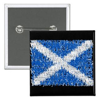 Scotland Independence: Scottish Yes flag, 15 Cm Square Badge