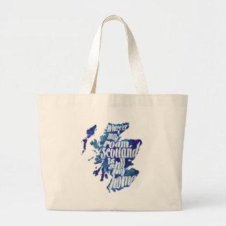 Scotland is my home jumbo tote bag