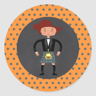 Scotland Kilts kids Birthday Party Classic Round Sticker