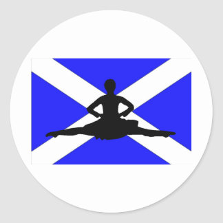 Scotland Leap Classic Round Sticker