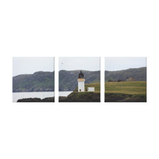 Scotland Lighthouse Gallery Wrapped Canvas