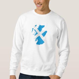Scotland map flag sweatshirt