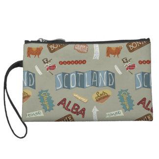 Scotland print clutch wristlet purse